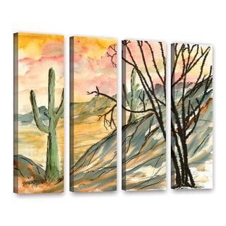 ArtWall Derek Mccrea 'Arizona Evening' 4 Piece Gallery-Wrapped Canvas Set