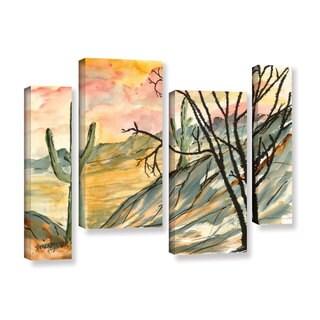 ArtWall Derek Mccrea 'Arizona Evening' 4 Piece Gallery-wrapped Canvas Staggered Set