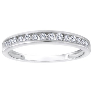 Sterling Silver 1/4ct TDW Diamond Wedding Band - White H-I