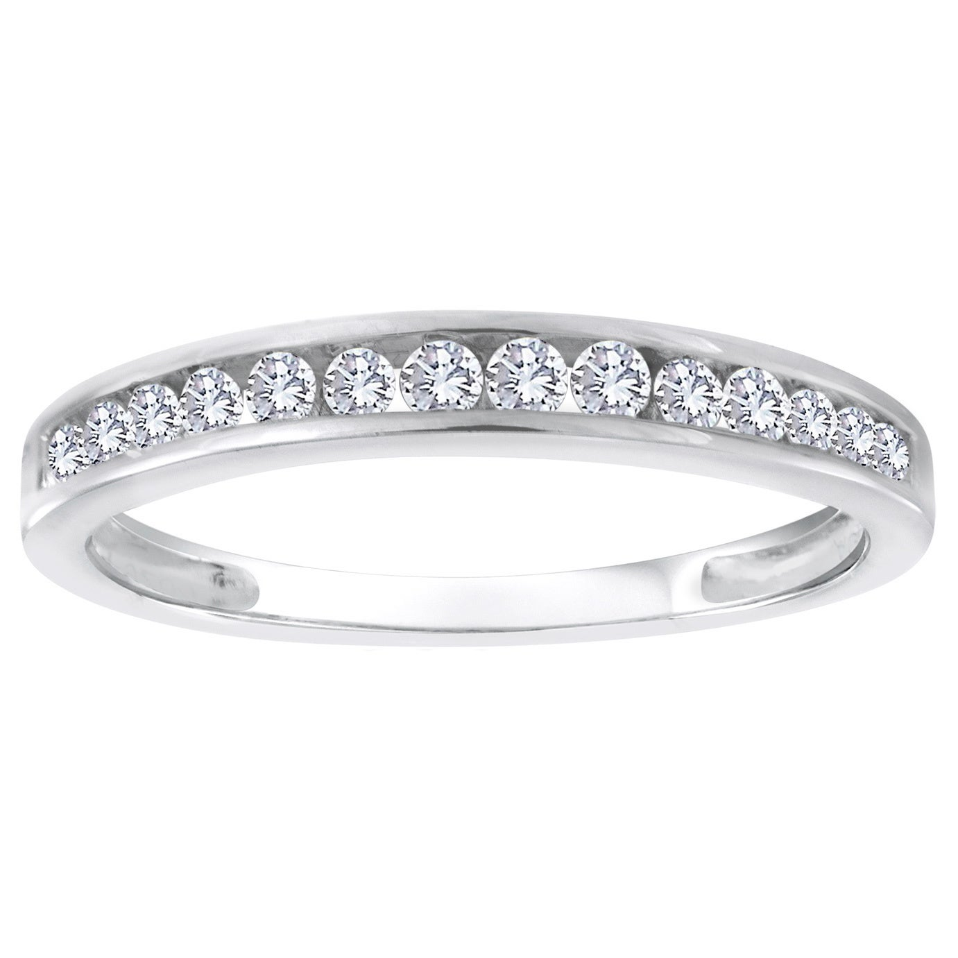 Diamond Wedding Band in 10K Pink Gold 1//6 cttw, Size-10.5 G-H,I2-I3