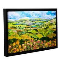 ArtWall Allan Friedlander 'Half Way Home' Gallery-wrapped Floater-framed Canvas