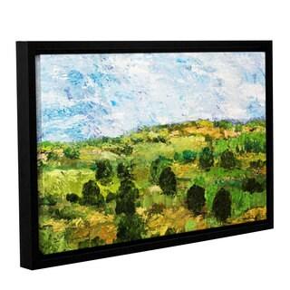 ArtWall Allan Friedlander 'Just Roll Along' Gallery-wrapped Floater-framed Canvas