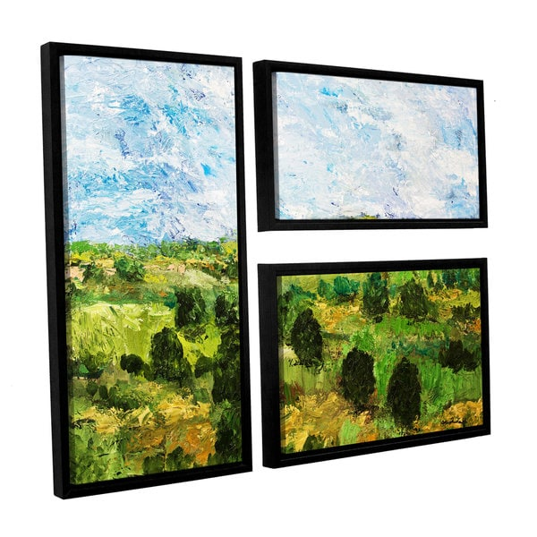ArtWall Allan Friedlander 'Just Roll Along' 3 Piece Floater Framed Canvas Flag Set