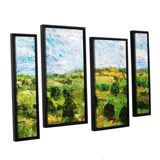 ArtWall Allan Friedlander 'Just Roll Along' 4 Piece Floater Framed Canvas Staggered Set