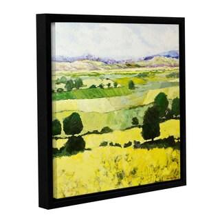 ArtWall Allan Friedlander 'Napa Yellow 2' Gallery-wrapped Floater-framed Canvas