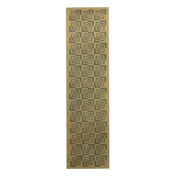 Handmade Herat Oriental Indo Tibetan Wool Runner - 2'3 x 8'6 (India)