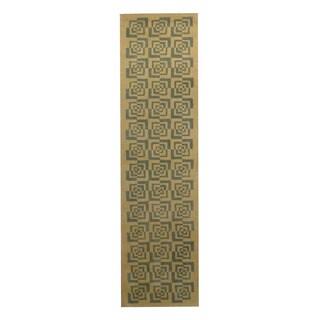 Herat Oriental Indo Hand-tufted Tibetan Light Green/ Teal Wool Area Rug (2'3 x 8'6)