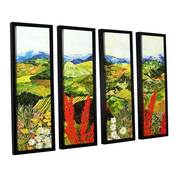 ArtWall Allan Friedlander 'One More Step' 4 Piece Floater Framed Canvas Set