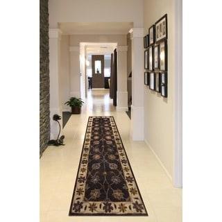 Herat Oriental Indo Hand-tufted Mahal Wool Runner (2'4 x 8')