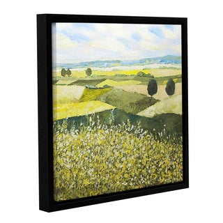 ArtWall Allan Friedlander 'Top Of The Hill' Gallery-wrapped Floater-framed Canvas