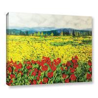 ArtWall Allan Friedlander 'Zone De Fleurs' Gallery-wrapped Canvas