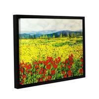 ArtWall Allan Friedlander 'Zone De Fleurs' Gallery-wrapped Floater-framed Canvas