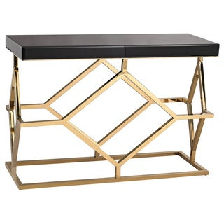 LS Dimond Home Black and Gold Deco Console Table