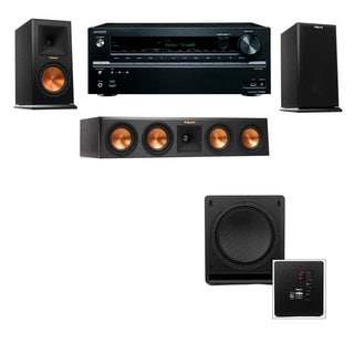Klipsch RP-160M-E Monitor Speaker 3.1 SW-112 Onkyo TX-NR636