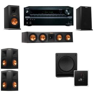 Klipsch RP-160M-E Monitor Speaker 5.1 SW-112 Onkyo TX-NR636