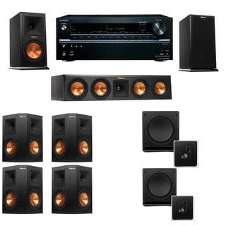 Klipsch RP-160M-E Monitor Speaker 7.2 SW-112 Onkyo TX-NR636
