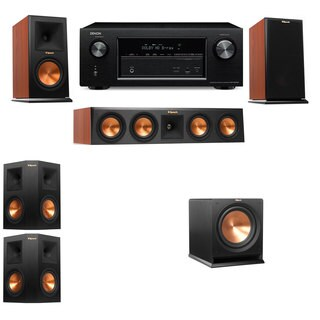 Klipsch RP-160M-CH Monitor Speaker 5.1 R112SW Denon AVR-X2100W