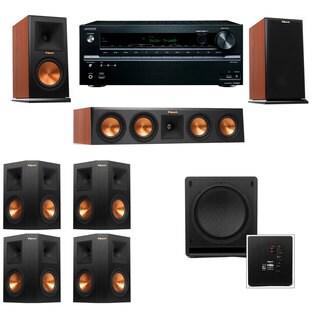 Klipsch RP-160M-CH Monitor Speaker 7.1 SW-112 Onkyo TX-NR636