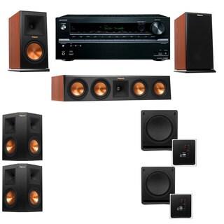 Klipsch RP-160M-CH Monitor Speaker 5.2 SW-112 Onkyo TX-NR636