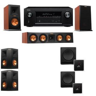 Klipsch RP-160M-CH Monitor Speaker 5.2 SW-112 Denon AVR-X2100W