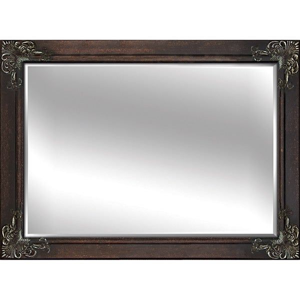 decorative framed mirrors extra large dining room decorative brown 60inch framed mirror shop free shipping today