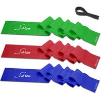 Exercise Resistance Bands And Door Anchor (Set of 3)