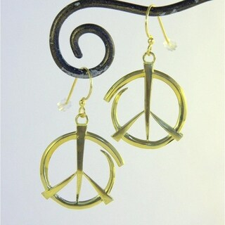 Spirit Tribal Fusion Abstract Peace Earrings