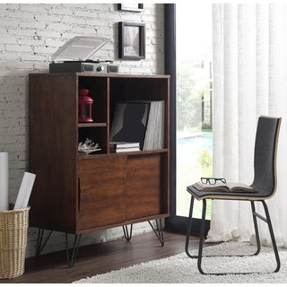 Carson Carrington Elsinore Retro Media Bookshelf Console