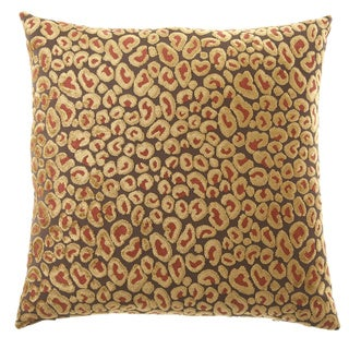 Cheetah Decorative 24-inch Feather and Down Filled Throw Pillow