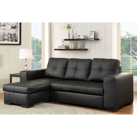 Furniture of America Margeaux 2-piece Sleeper Storage Sectional Sofas