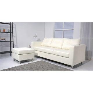 Caius Faux Leather Versatile Sofa Set
