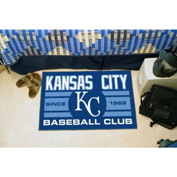 Fanmats Kansas City Royals Blue Nylon Uniform Inspired Stater Rug (1'6 x 2'5)