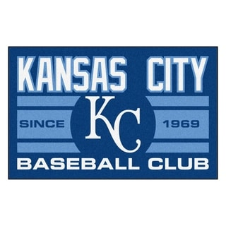 Fanmats Kansas City Royals Blue Nylon Uniform Inspired Stater Rug (1'6 x 2'5)