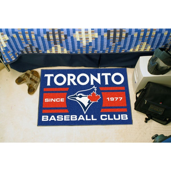 Fanmats Toronto Blue Jays Blue Nylon Uniform Inspired Stater Rug (1'6 x 2'5)