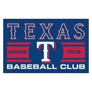 Fanmats Texas Rangers Blue Nylon Uniform Inspired Stater Rug (1'6 x 2'5)