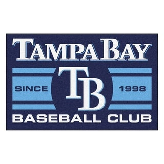 Fanmats Tampa Bay Rays Blue Nylon Uniform Inspired Stater Rug (1'6 x 2'5)