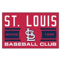 Fanmats St Louis Cardinals Red Nylon Uniform Inspired Stater Rug (1'6 x 2'5)