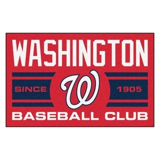 Fanmats Washington Nationals Red Nylon Uniform Inspired Stater Rug (1'6 x 2'5)