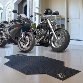 Fanmats Oakland University Black Rubber Motorcycle Mat (6'9 x 3'5)