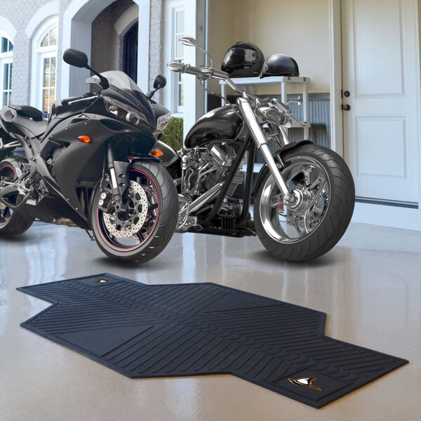 Fanmats Anderson University Black Rubber Motorcycle Mat (6'9 x 3'5)
