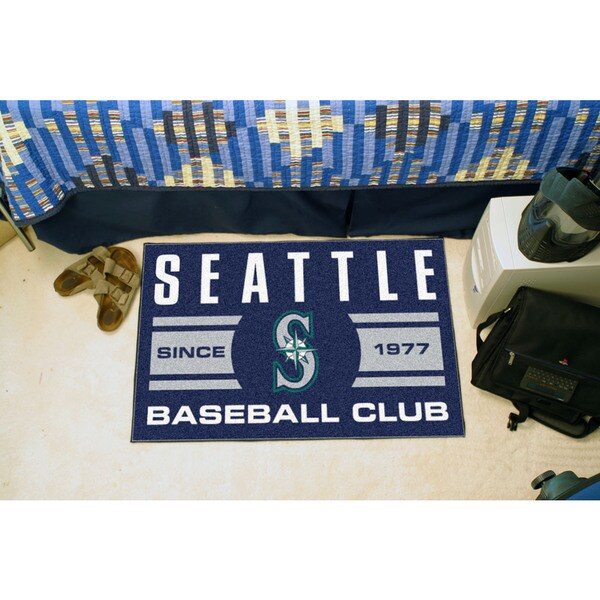 Fanmats Seattle Mariners Blue Nylon Uniform Inspired Stater Rug (1'6 x 2'5)