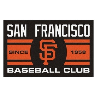 Fanmats San Francisco Giants Black Nylon Uniform Inspired Stater Rug (1'6 x 2'5)