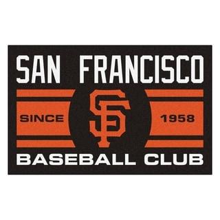 Fanmats San Francisco Giants Black Nylon Uniform Inspired Stater Rug (1'6 x 2'5)