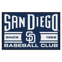 Fanmats San Diego Padres Blue Nylon Uniform Inspired Stater Rug (1'6 x 2'5)