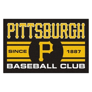 Fanmats Pittsburgh Pirates Black Nylon Uniform Inspired Stater Rug (1'6 x 2'5)