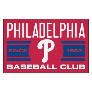 Fanmats Philadelphia Phillies Red Nylon Uniform Inspired Stater Rug (1'6 x 2'5)