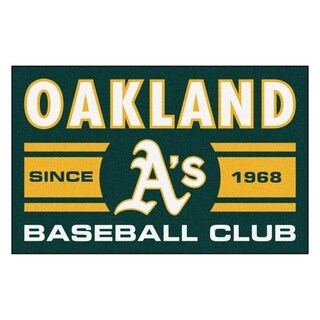 Fanmats Oakland Athletics Green Nylon Uniform Inspired Stater Rug (1'6 x 2'5)