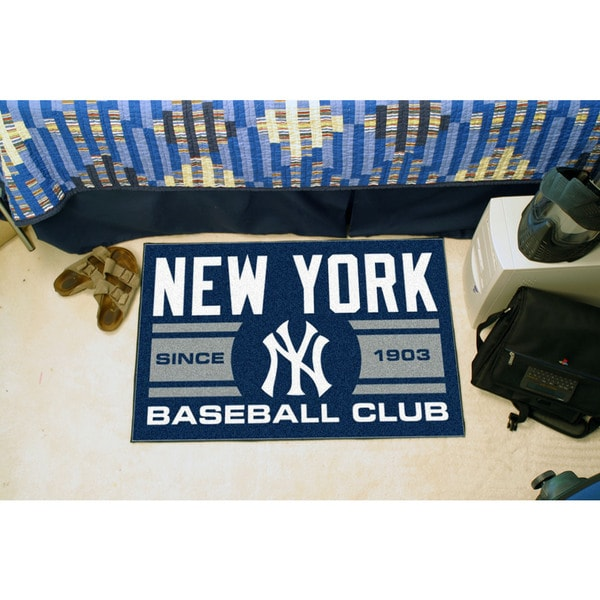 Fanmats New York Yankees Blue Nylon Uniform Inspired Stater Rug (1'6 x 2'5)
