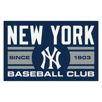 Fanmats New York Yankees Blue Nylon Uniform Inspired Stater Rug (1'6 x 2'5)