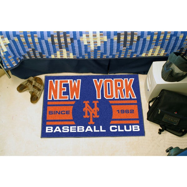 Fanmats New York Mets Blue Nylon Uniform Inspired Stater Rug (1'6 x 2'5)